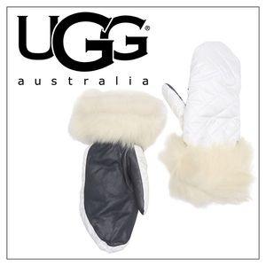 UGG Smart Thumb All Weather Shearling Mittens L/XL